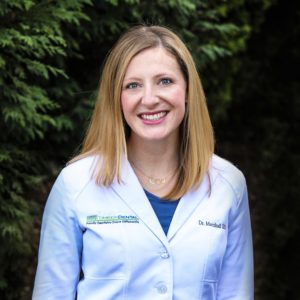 Dr. Molly Marshall, DDS - A fourth-generation dentist, Dr. Molly loves her job. She co-owns Timber Dental with her husband, Dr. Matt. When she's not at work, she loves to cook.