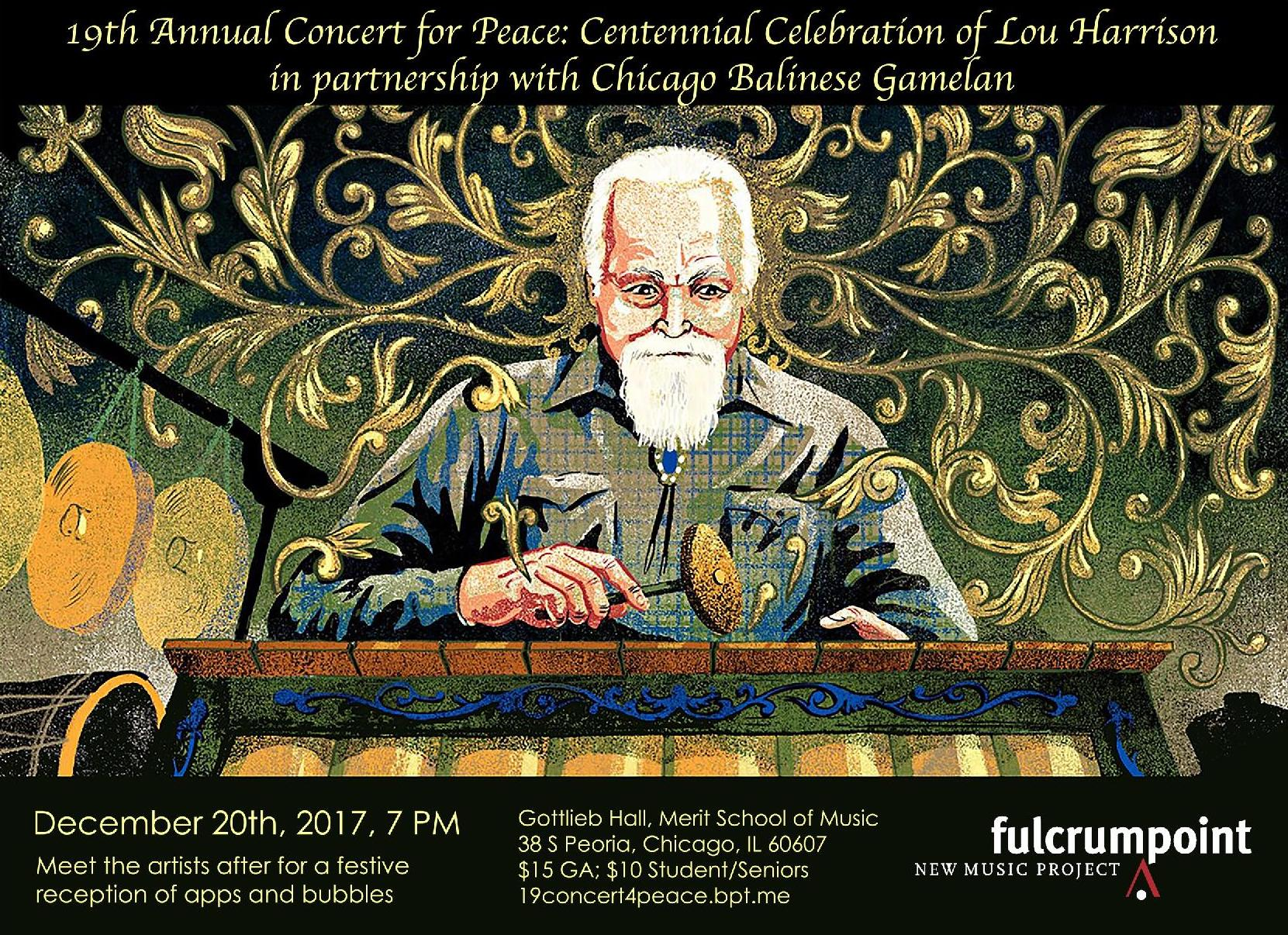 Concert for Peace: Centennial Celebration of Lou Harrison