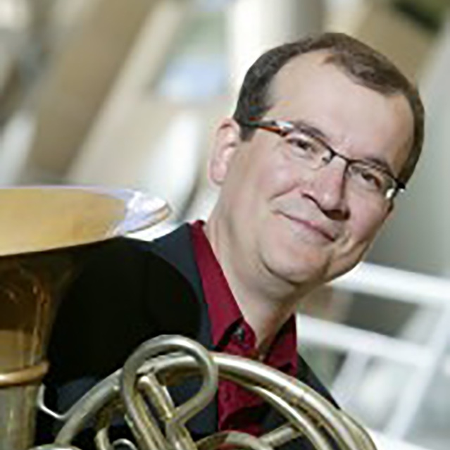 Greg Flint, French Horn    Musical Affiliations:  Principal Horn of the Elgin Symphony, Chicago Jazz Orchestra, Present Music of Milwaukee, Santa Fe Opera Orchestra  Academic Affiliations:  BM Northwestern University, Associate Professor of Horn at the University of Wisconsin-Milwaukee  Musical Passions:  Chamber music of all genres, especially Third Stream  Outside Interests:  Traveling with my family, fixing things around the house