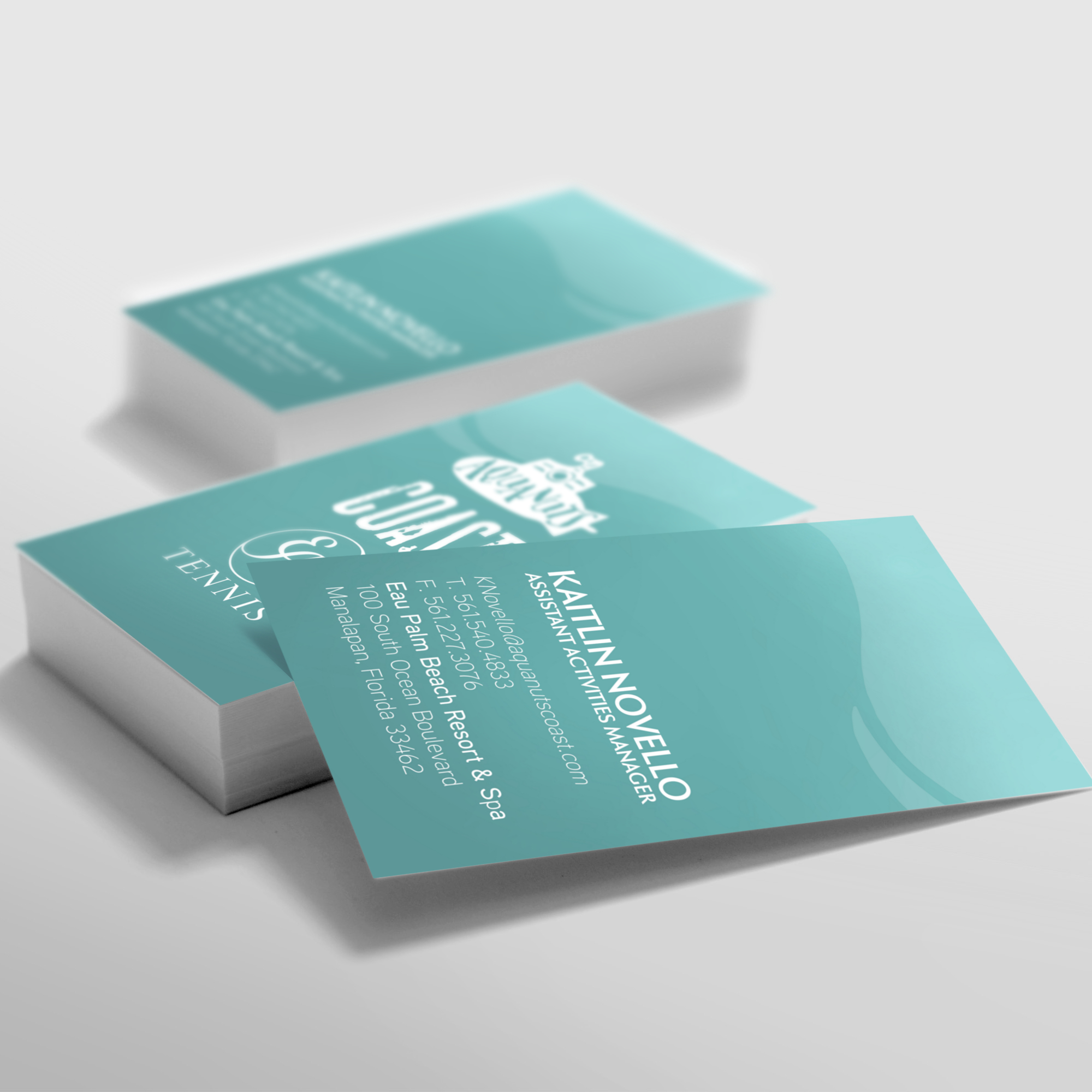 Aquanuts, Coast & Eau Tennis  Business Card Design