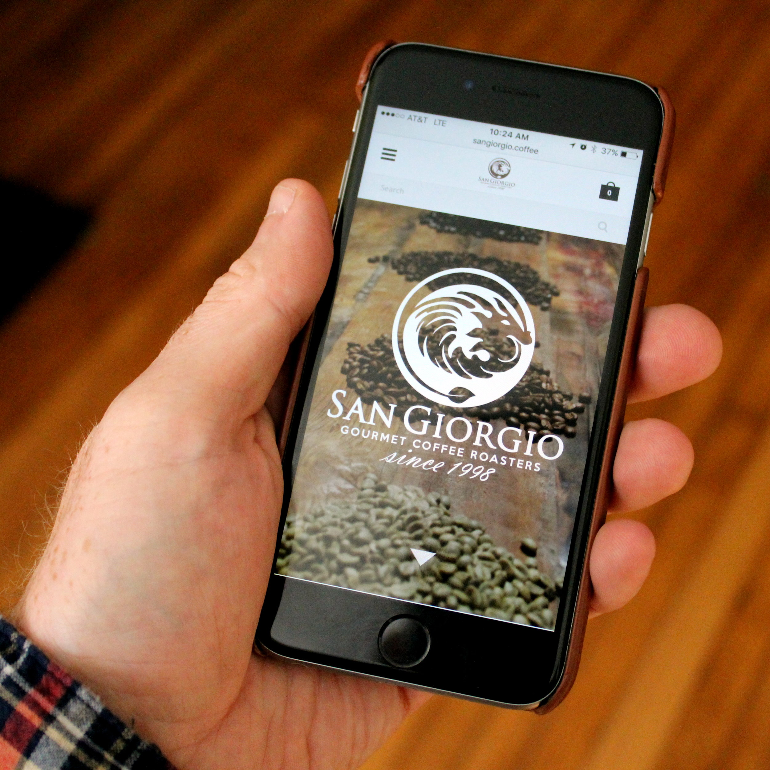 SanGiorgio Coffee Website Mobile Optimization (photographed in-house)