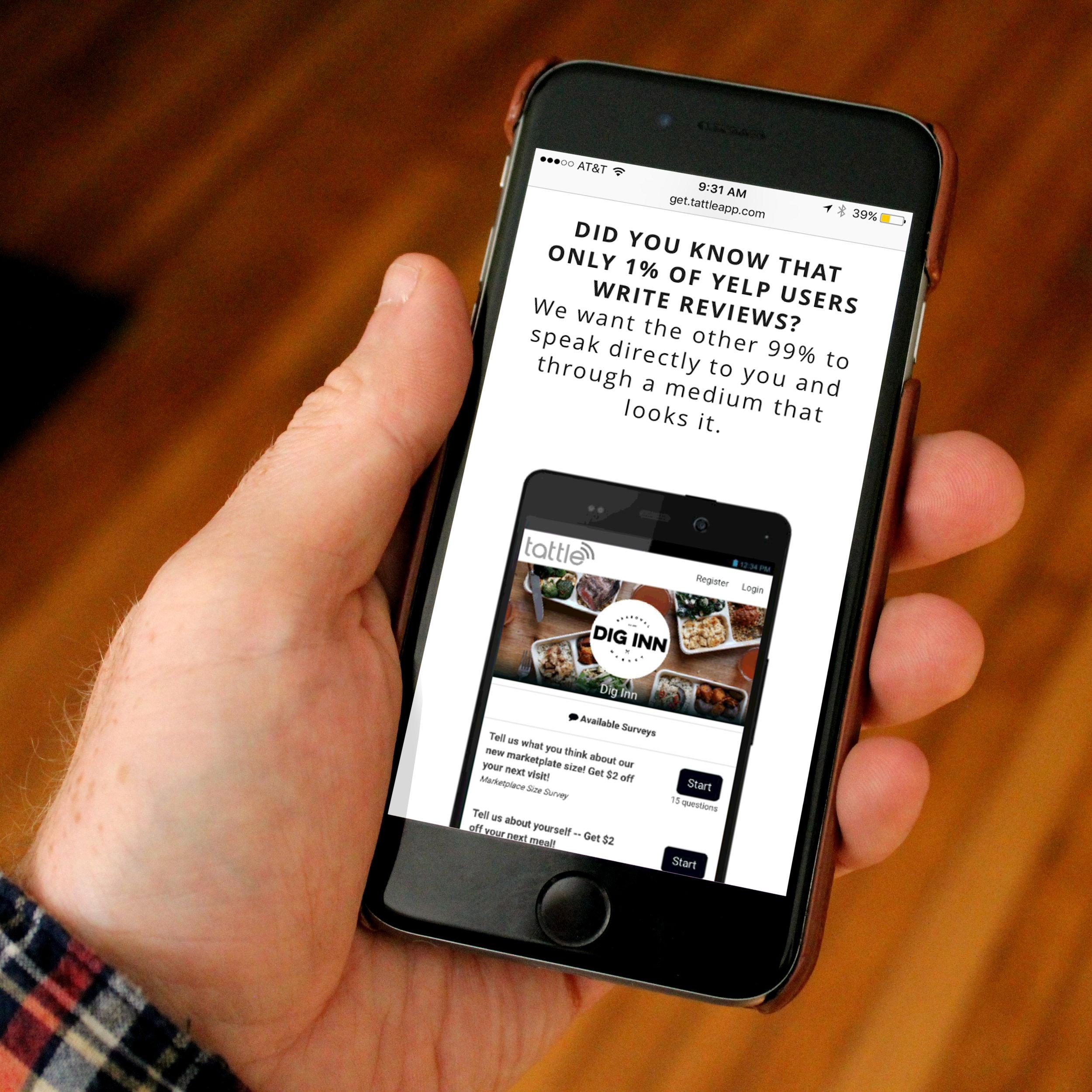Tattle App Web Design & Development