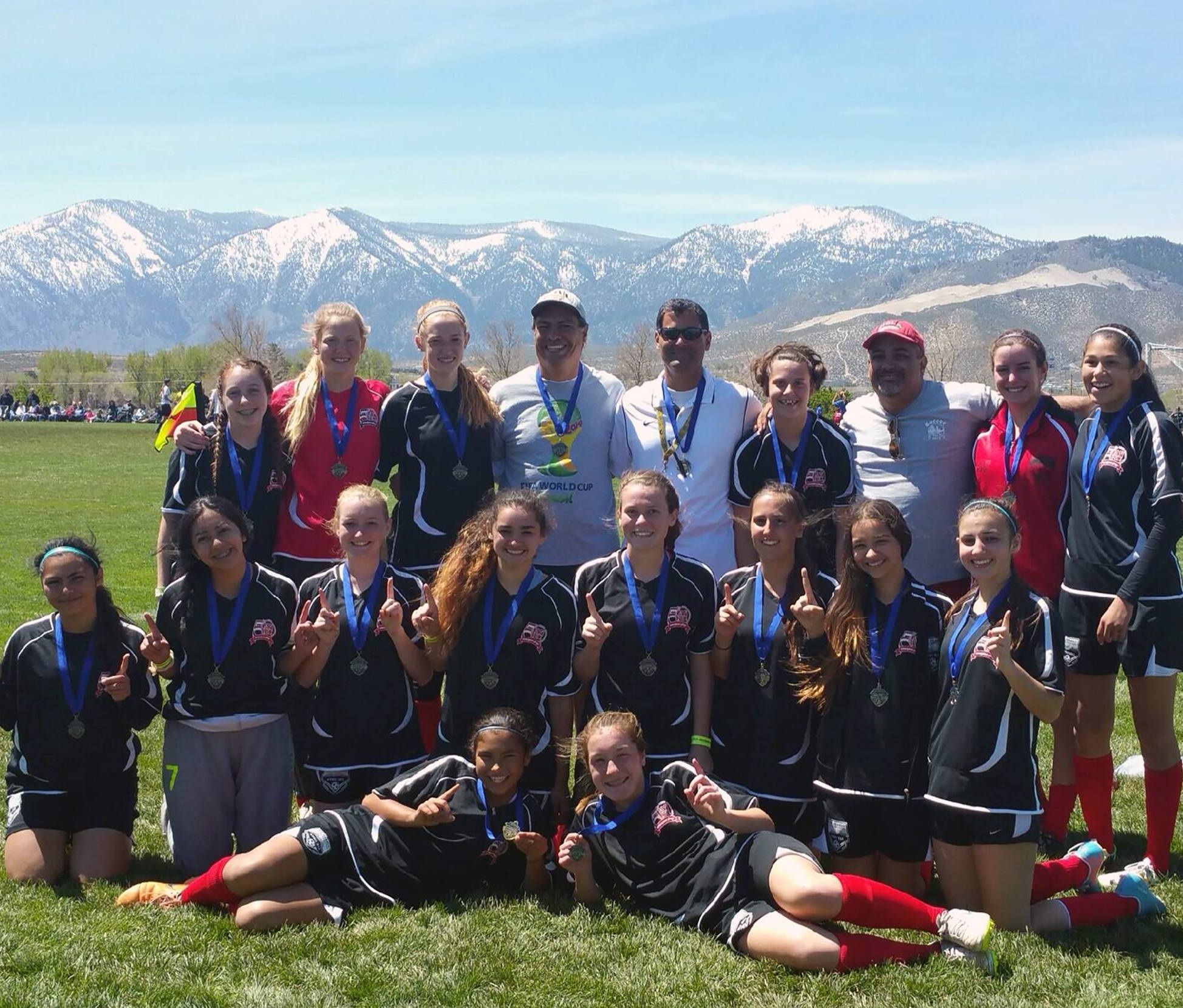 Comstock Shootout Champions - I love the Sierra Nevada mountain range in the background.