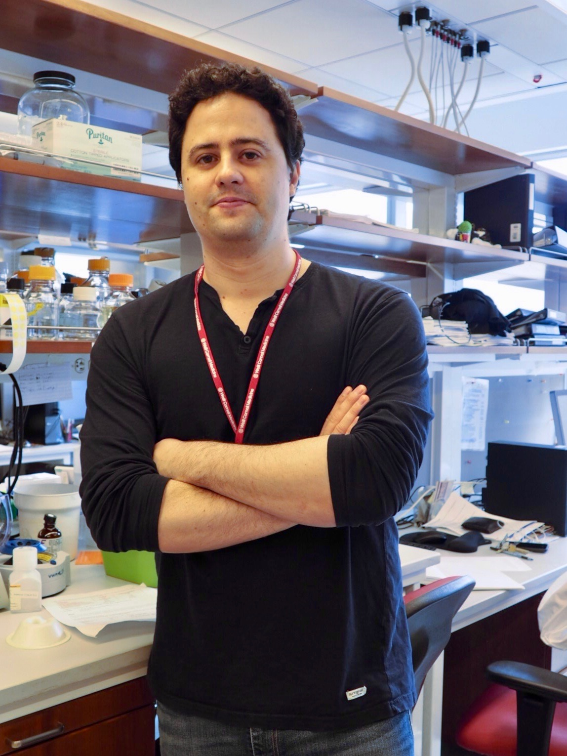 Tiago Alfredo Rodrigues Beites - Tiago received his PhD degree in Biology from the University of Porto, Portugal. During graduate school he worked with Streptomyces, a genus known to be a prolific source of antibiotics, focusing on the optimization of secondary metabolite biosynthesis. He joined Sabine Ehrt's laboratory in March 2015. As a postdoctoral researcher, he has been interested in questions regarding the interface between energetic and carbon metabolism of Mycobacterium tuberculosis. Specifically, Tiago's work aims at 1) unveiling respiratory chain redundancies and their implications on drug development, and 2) the identification and characterization of genes required for survival in lipid-rich microenvironments.