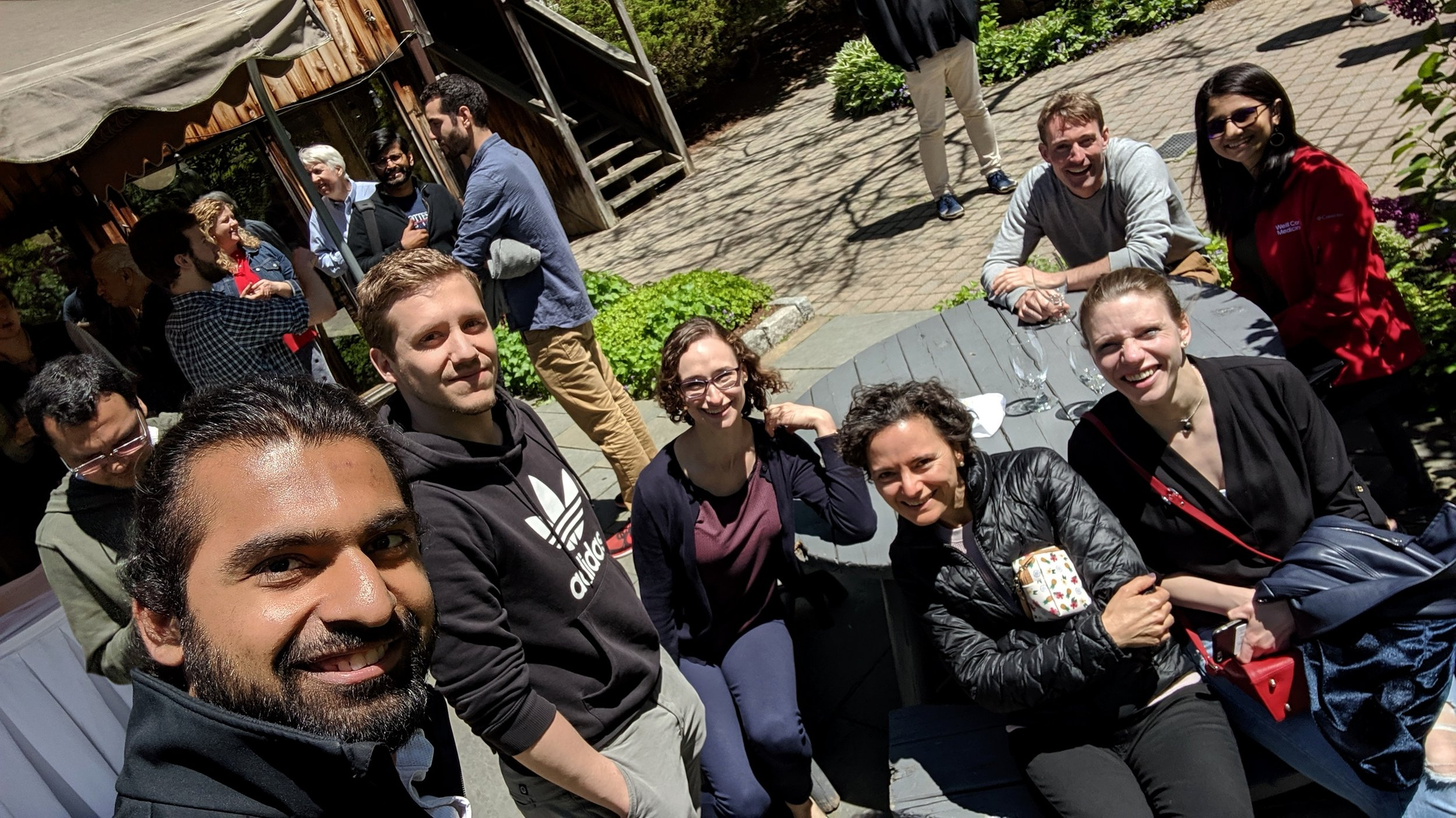 The RHEHRTUNEROCKRUBETTINGER Retreat @Interlaken Inn  A day long talks-packed meeting with the labs of Eric Rubin, Sarah Fortune, Chris Sassetti, Jeremy Rock, Kyu Rhee and Chris Sassetti at picturesque Interlaken Inn.