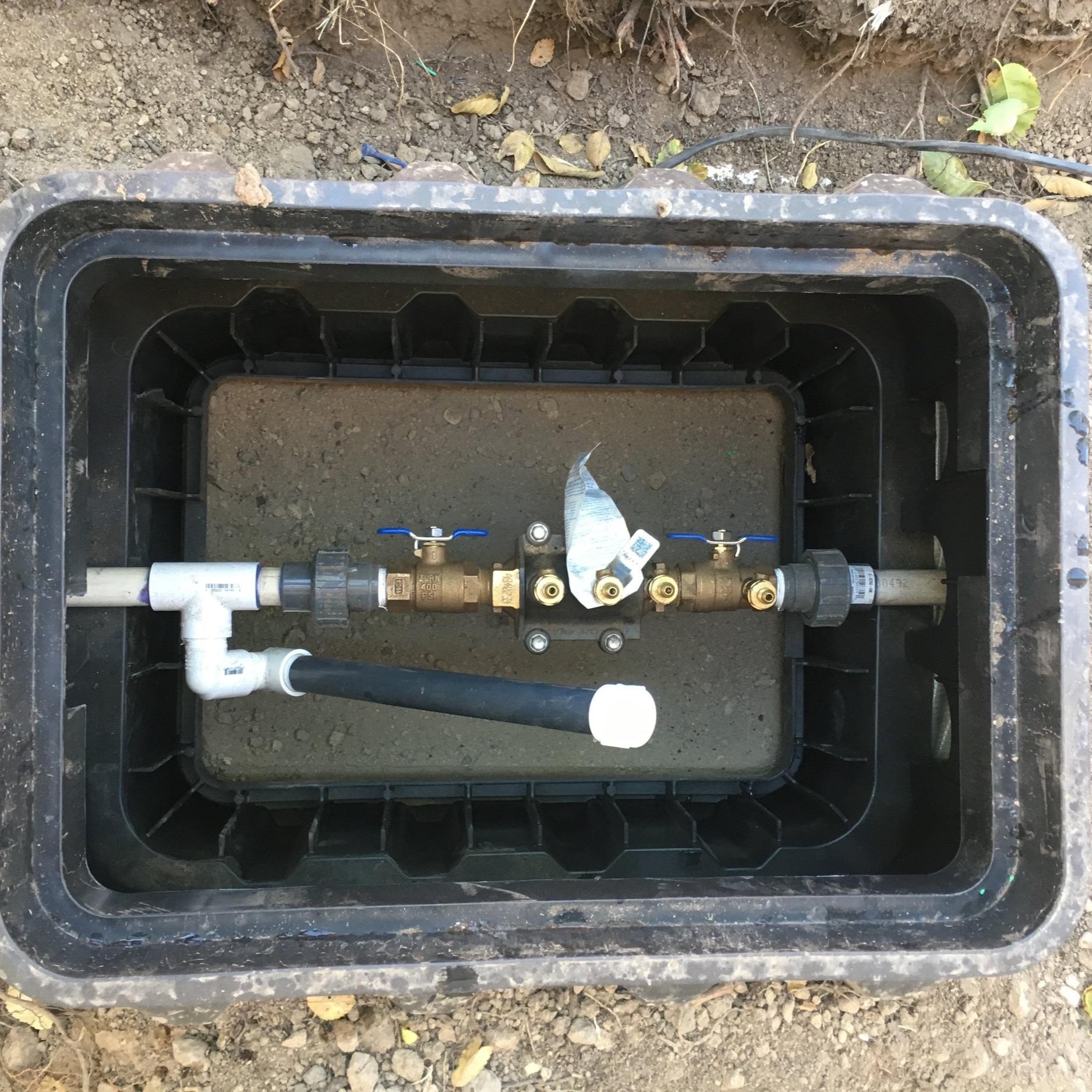 Newly installed valve box