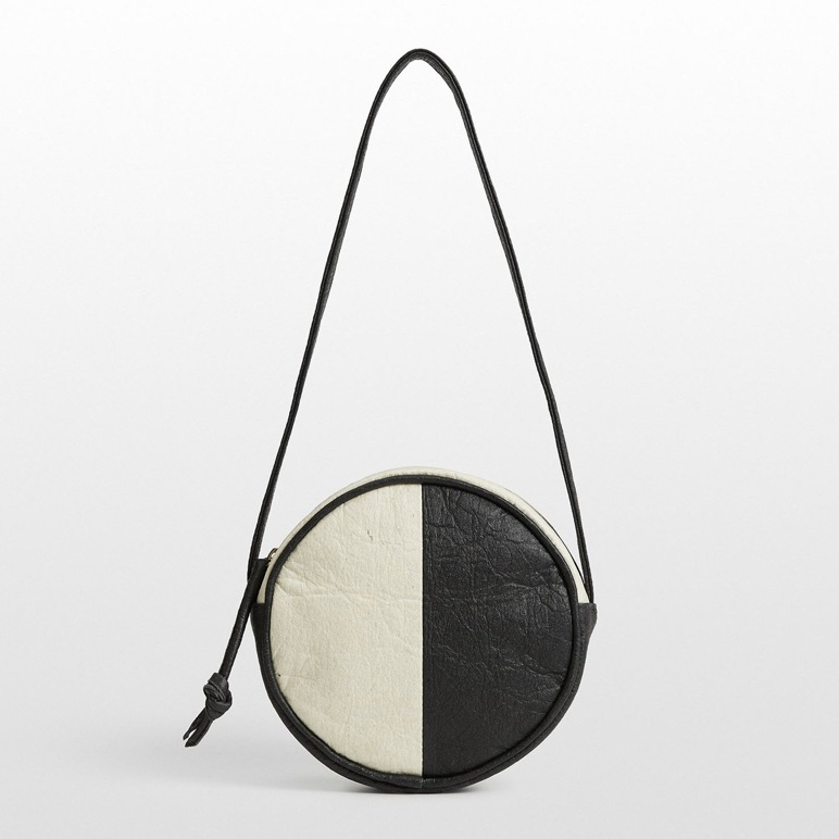 1. A Brand-New Bag - Trendy canteen shape? Goes-with-everything B+W color block? Cruelty-free vegan leather made from pineapple leaf fibers? Supporting a fair wage, woman-owned business? Check, check, check, quadruple check. Hozen Piñatex ® Canteen Block Bag, $240