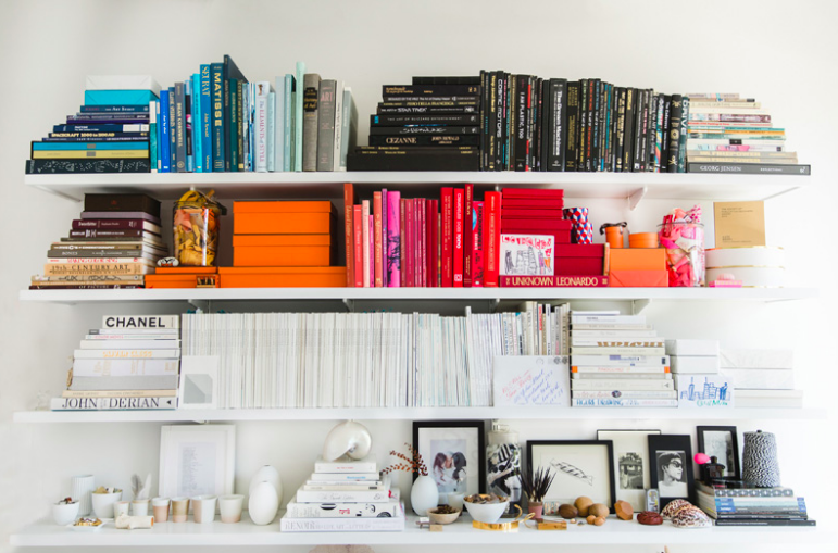Kate's drool-worthy bookshelves, photographed by Julia Hirsch
