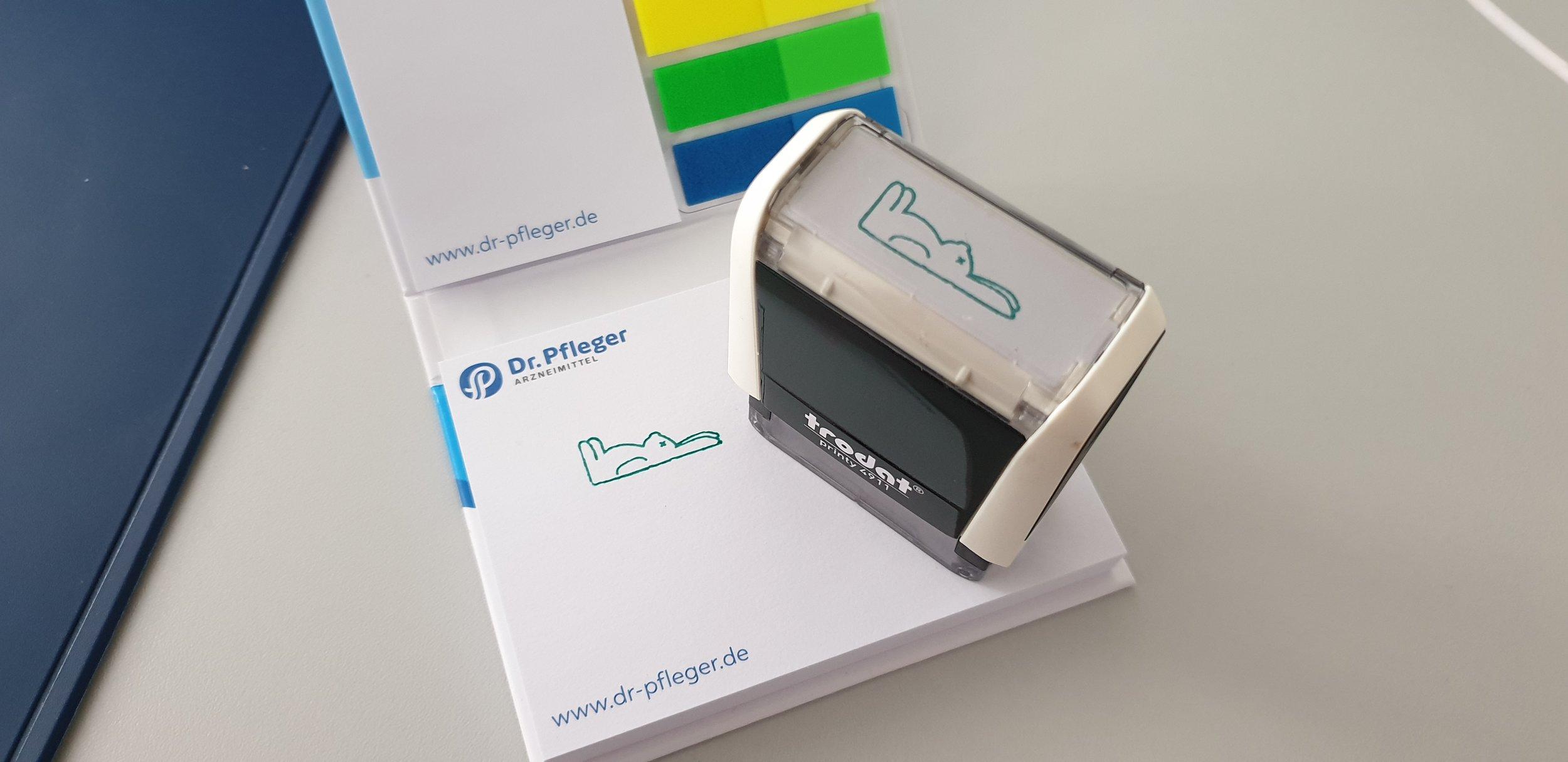 Dr. Pfleger Arzneimittel's custom stamp