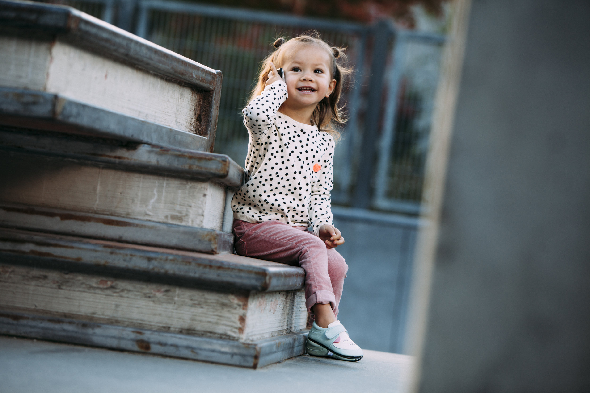 Iola being on trend with her  Jack & Lily Mocs - Keiko