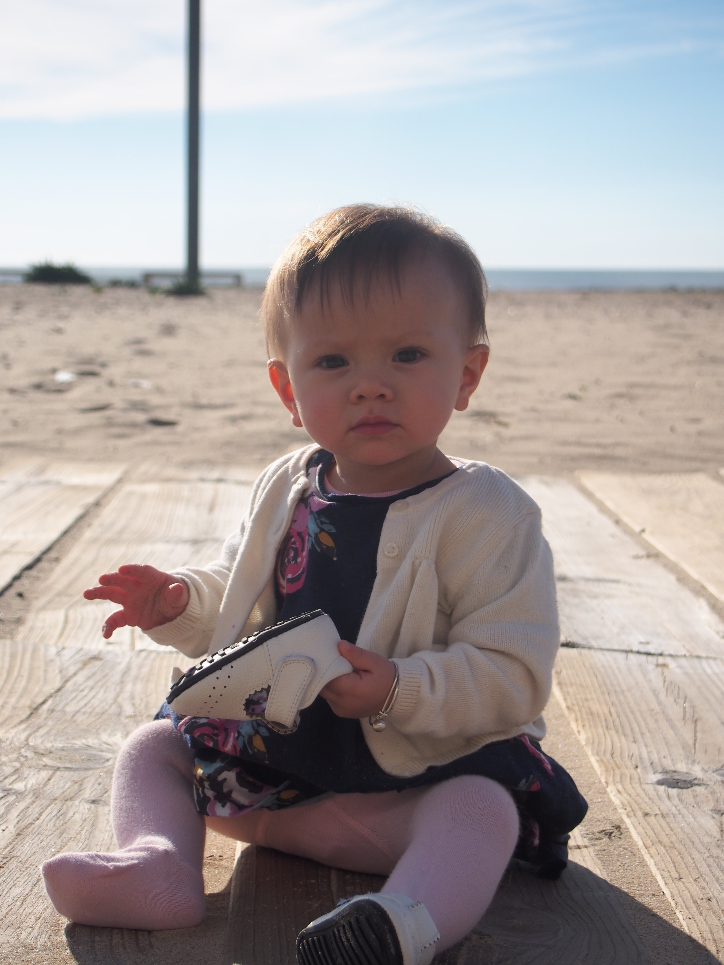 Iola exploring gate beaches in Portugal with her  Jack & Lily Mocs - Paisley