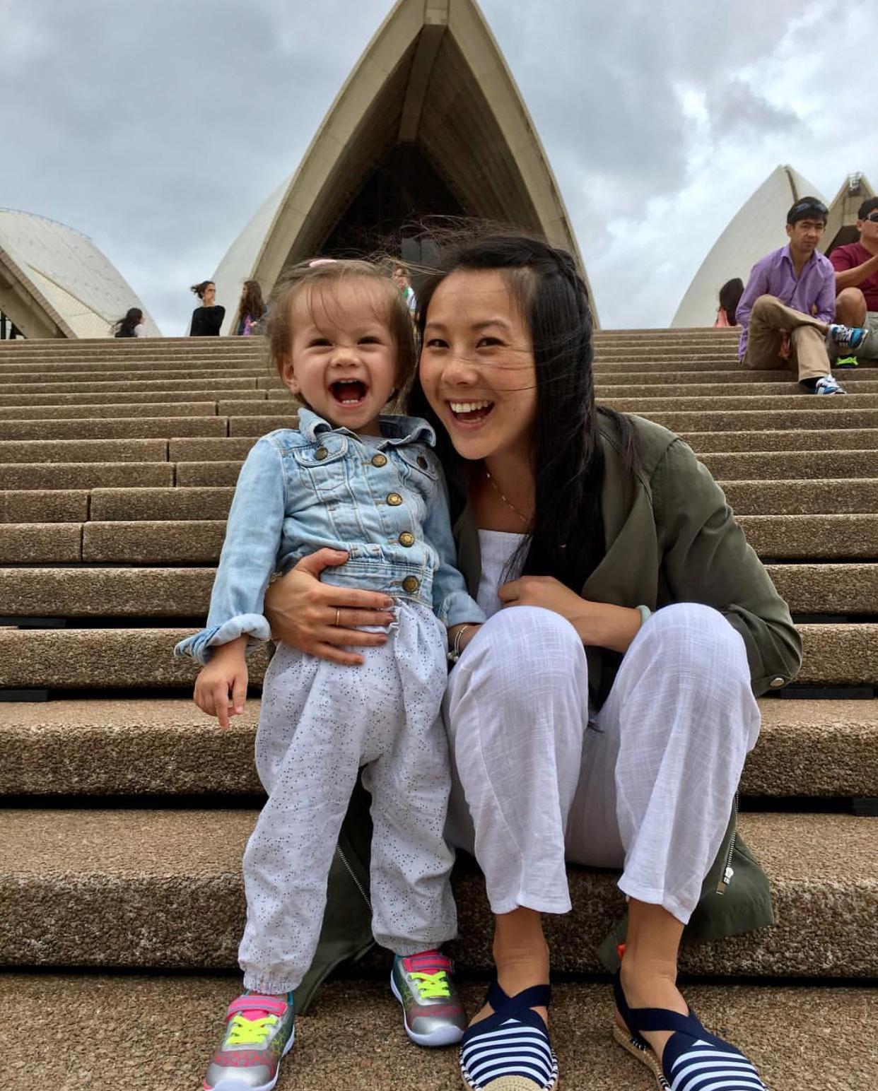 Iola and I Outside the Sydney Opera House