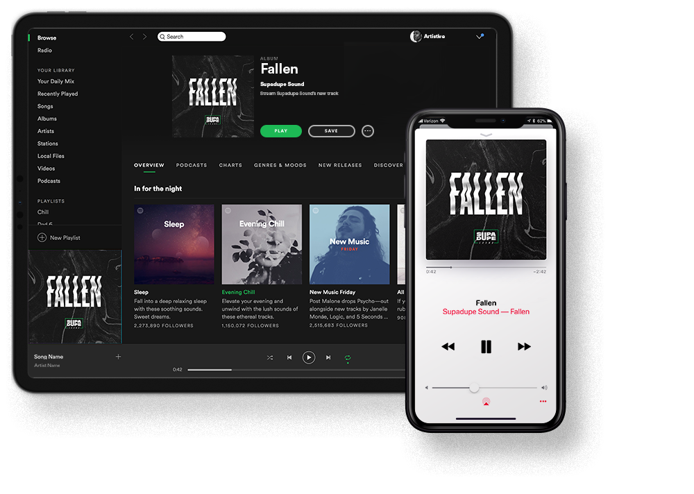 release Artwork - Your single/album art, mixtape or podcast cover, pixel-perfect for all streaming platforms.