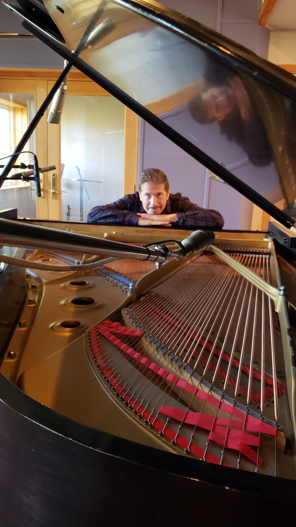 Ed Blumenthal recording at Imaginary Road Studios, Vermont, VT