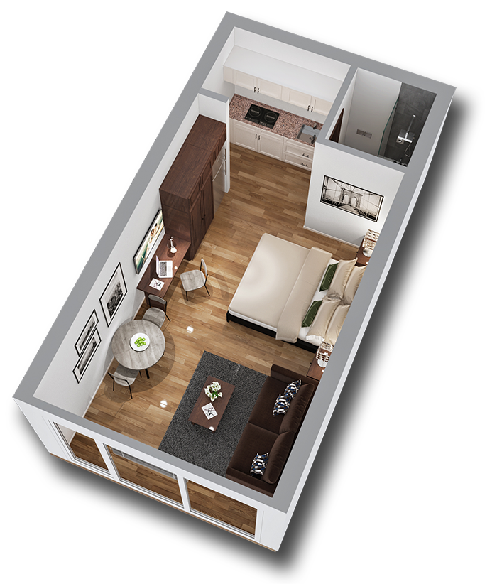 Floor Plan of Standard MicroSuite