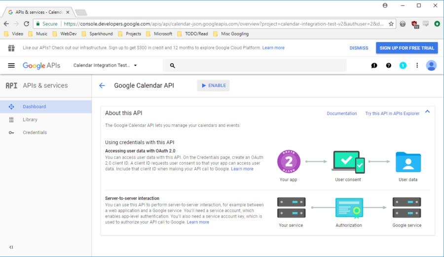 Calendar API