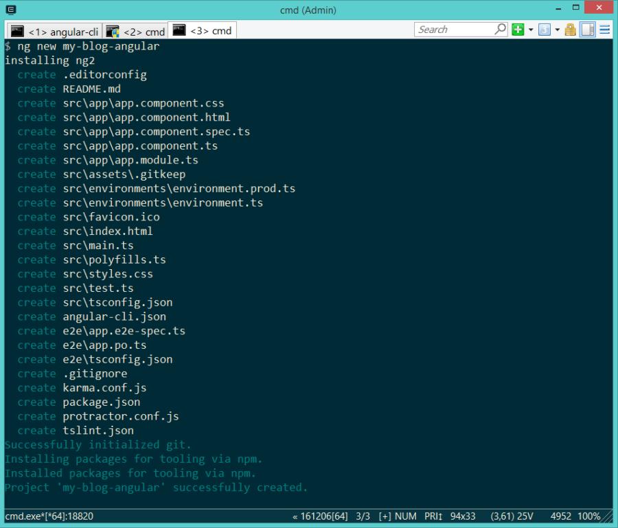 Angular-CLI ng new