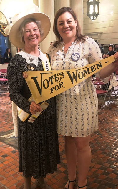Pat Jordan (LWV of Radnor Township) and LWVPA VP of Government and Social Policy Jamie Mogil