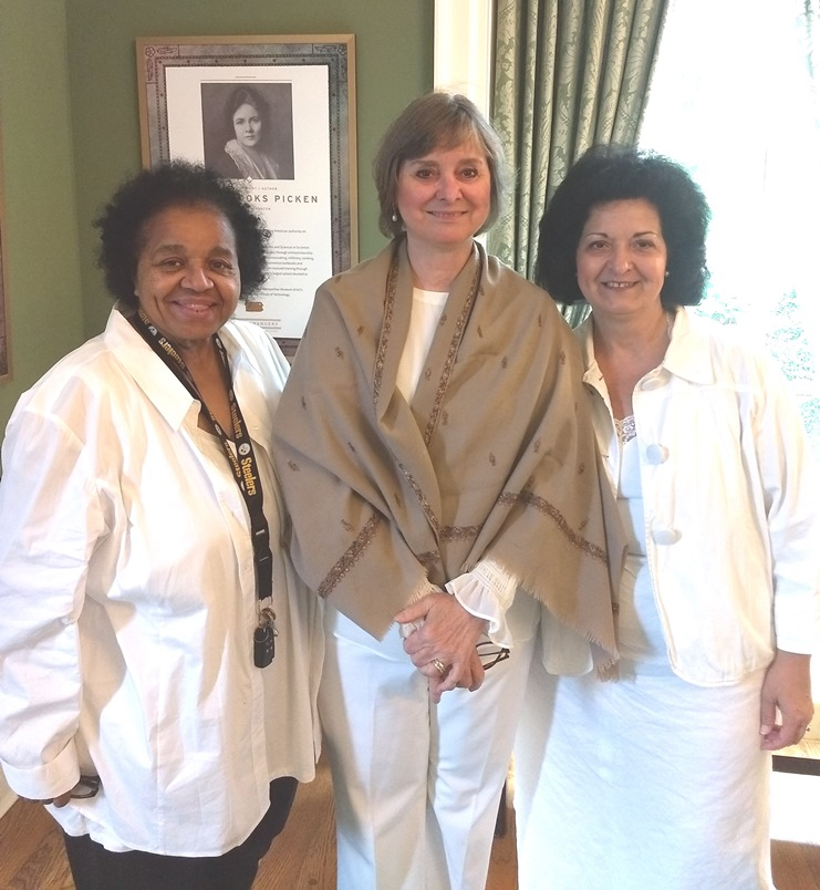 First Lady Francis Wolf with Pat Stringer and Evey Henderson (LWV of the Harrisburg Area)