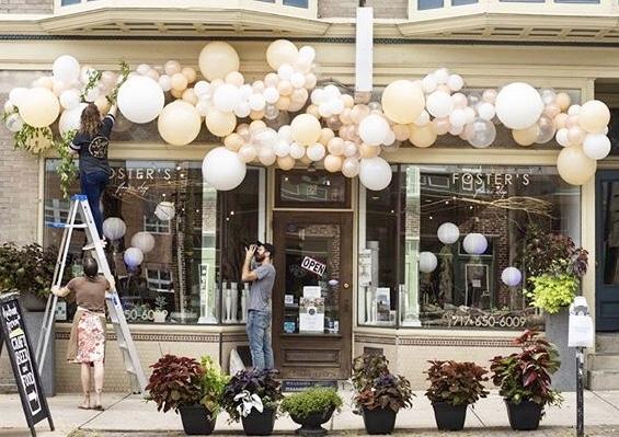 Foster's Flower Shop Peach Festival Install - York, PA