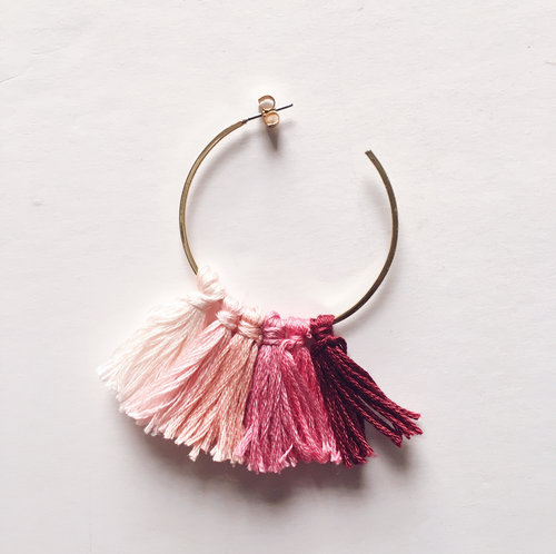The Easiest Tassel Earring Tutorial Bon Femmes