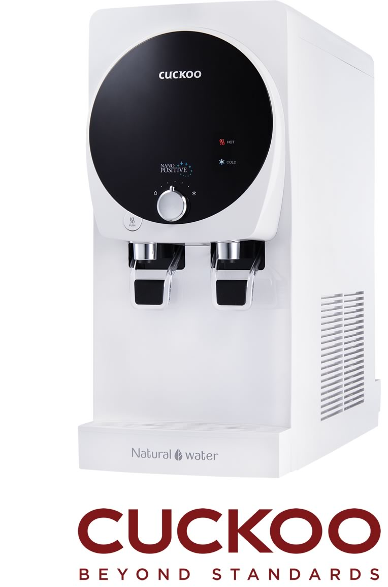 The Cuckoo K-TOP Water Purifier is a three-in-one temperature, mild-alkaline water purifier that has four filters with a six-stage filtration system and an anti-bacterial stainless-steel water tank.  The K-TOP is a carefully designed water purifier that aims to give families with convenient access to clean and safe drinking water at the comfort of their own home. It is a stylish and slim water purifier that holds a capacity of cold, hot and room temperature water while consuming less energy.