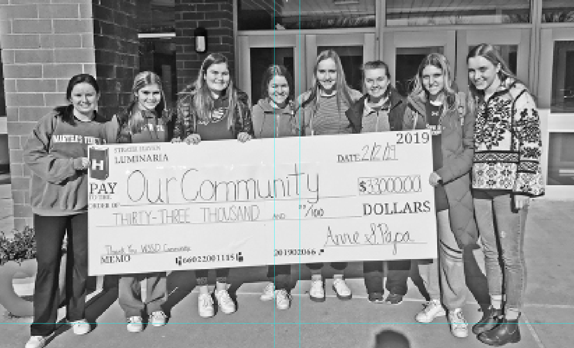 The Strath Haven Luminaria Club raised $33,000 for ABC-Strath Haven and access to community extracurriculars. Student leaders are (left to right) Lizzy Healy, Sarah McAndrews, Kate McAndrews, Emma Forbes, Gillian Brennan, Erin O'Brien, Bella Hunter, Gretchen Clauss (missing from picture: Sophie Haase, Greta Hiehle, Lydia Elia, Maeve Clark).