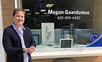 Megan Gaardsmoe at her Allstate Insurance agency at 11 Park Avenue.