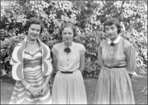 Friends (l. to r.): Teel Dunn, Gloria Quick and Emily Pritchard.