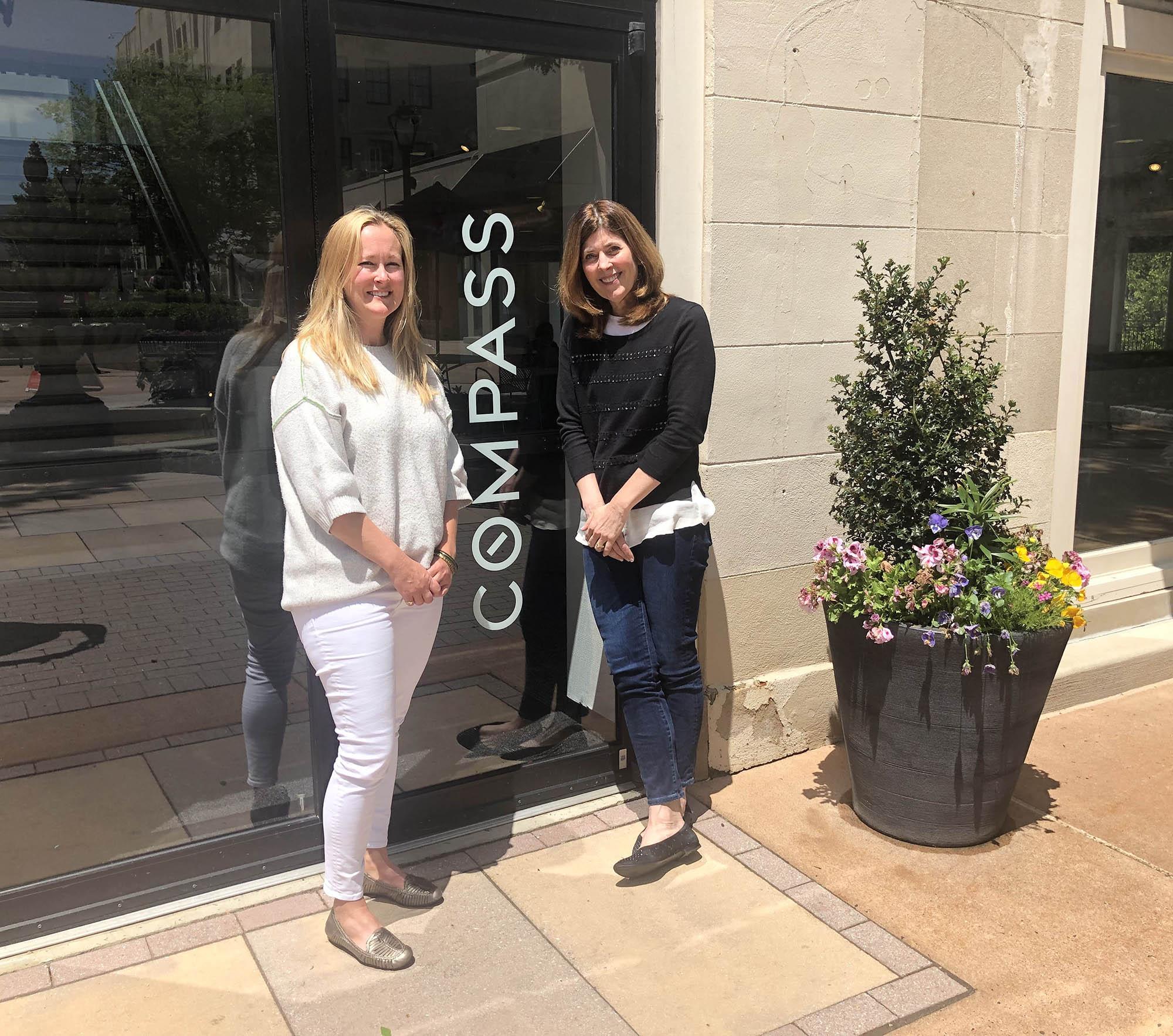 Erica Kaufman (left) and Heidi Foggo at Compass's Main Line office in Ardmore.