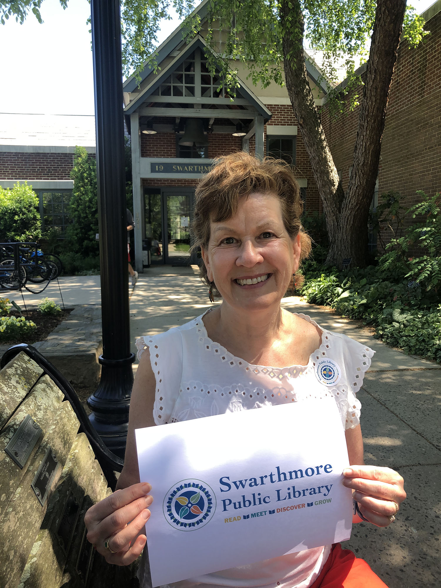 Just in time, Swarthmorean Amy Pollack came up with a vibrant new logo design for the Swarthmore Public Library.