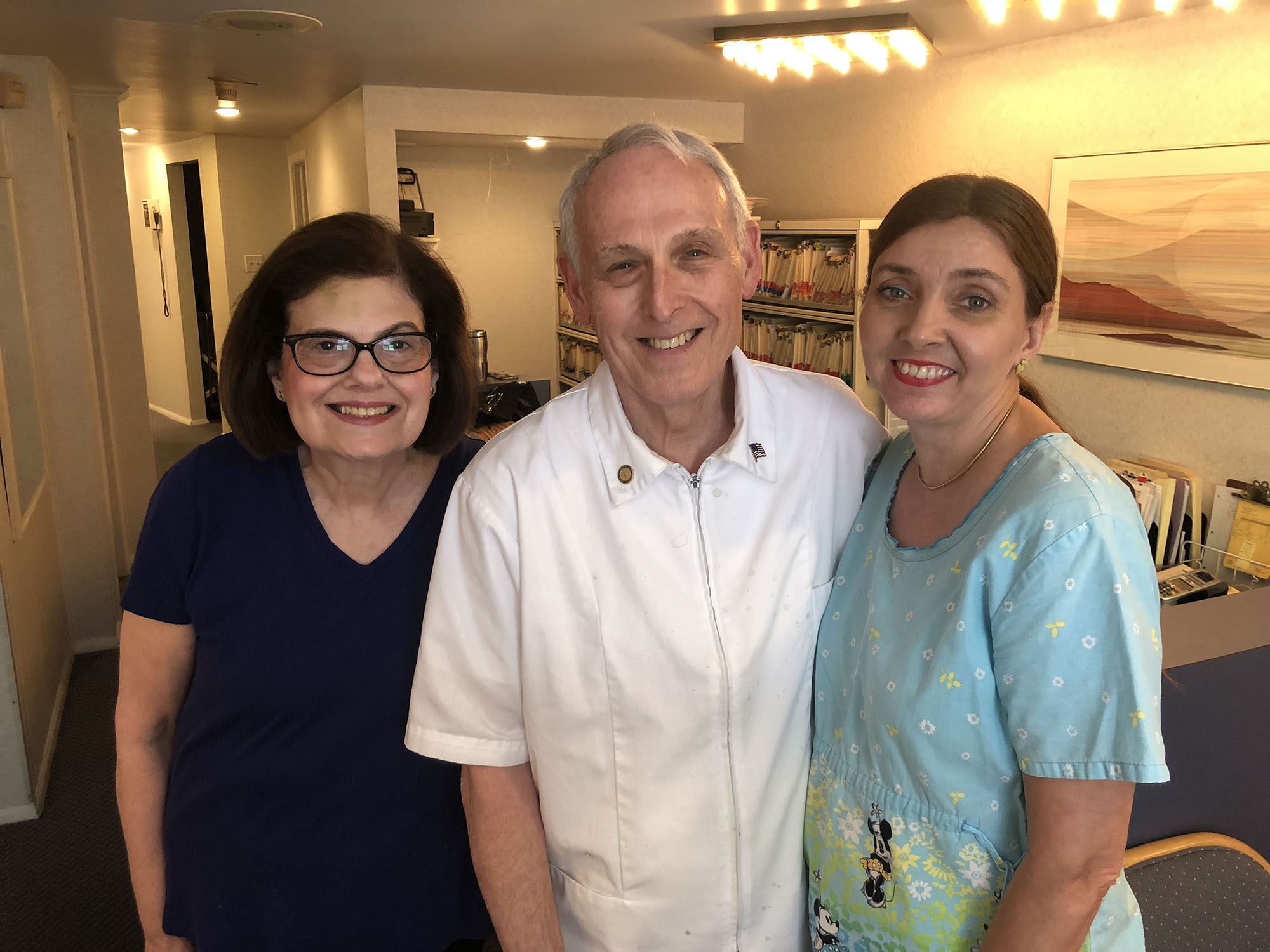 Barbara Hoffman, Dr. Dennis Hoffman, and Kathleen Kelly earlier this week at the 107 Rutgers Avenue dental practice, where Dr. Mark Forwood will soon start serving patients. (Colleague Darlene Tryon was away.)