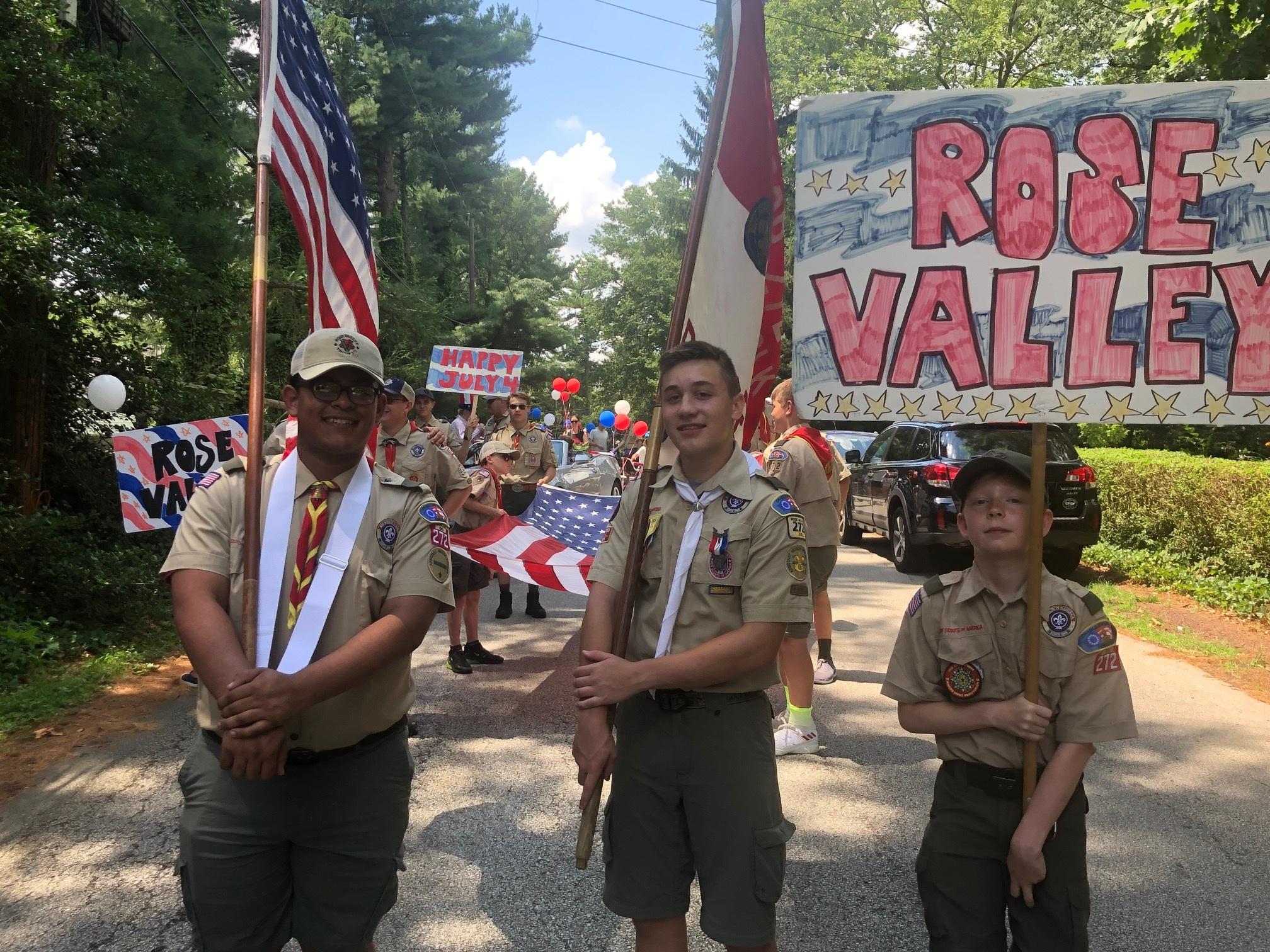 Members of troop 272 in Rose Valley