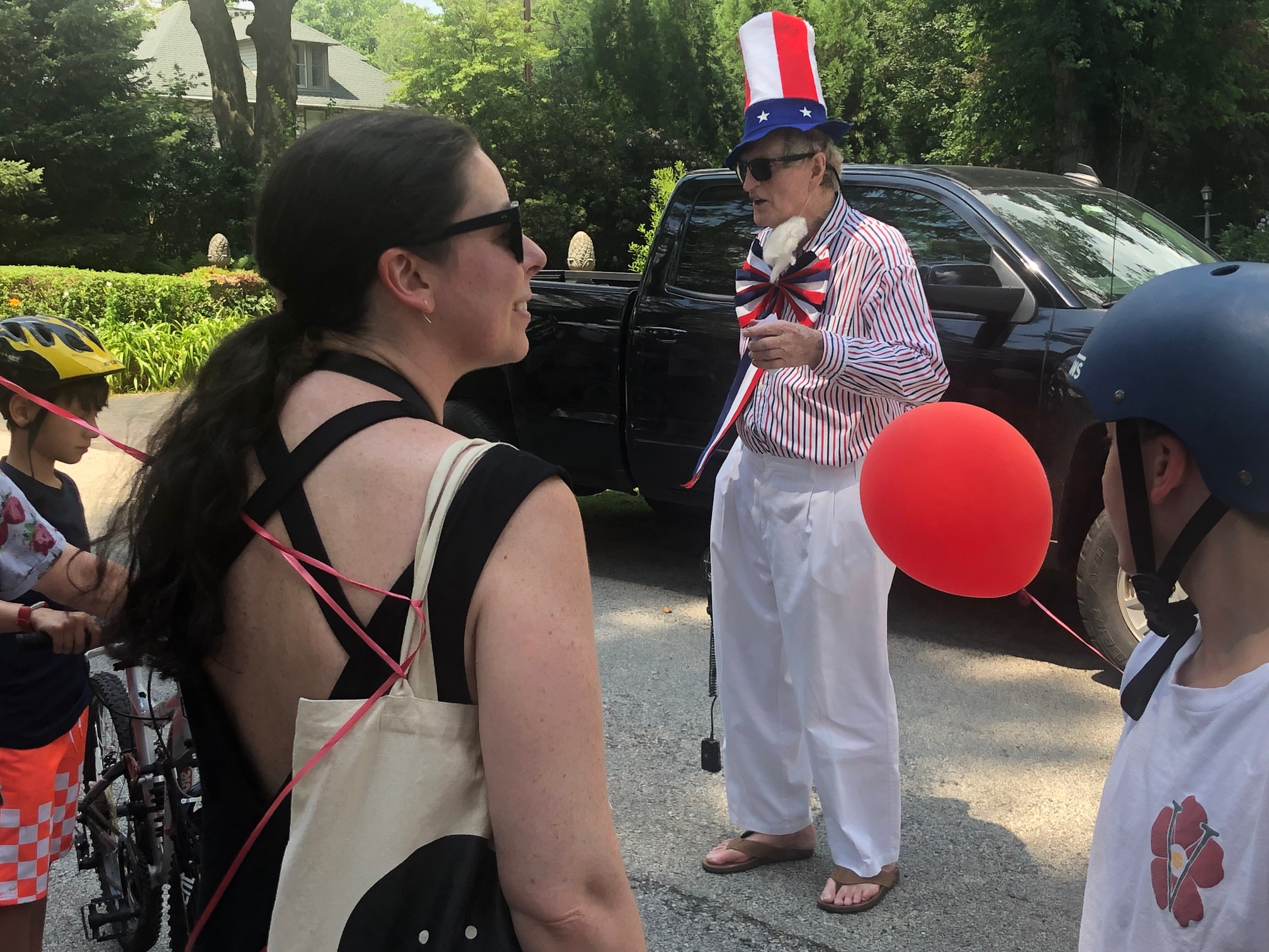 Mayor Tim Plummer of Rose Valley dressed as Uncle Sam