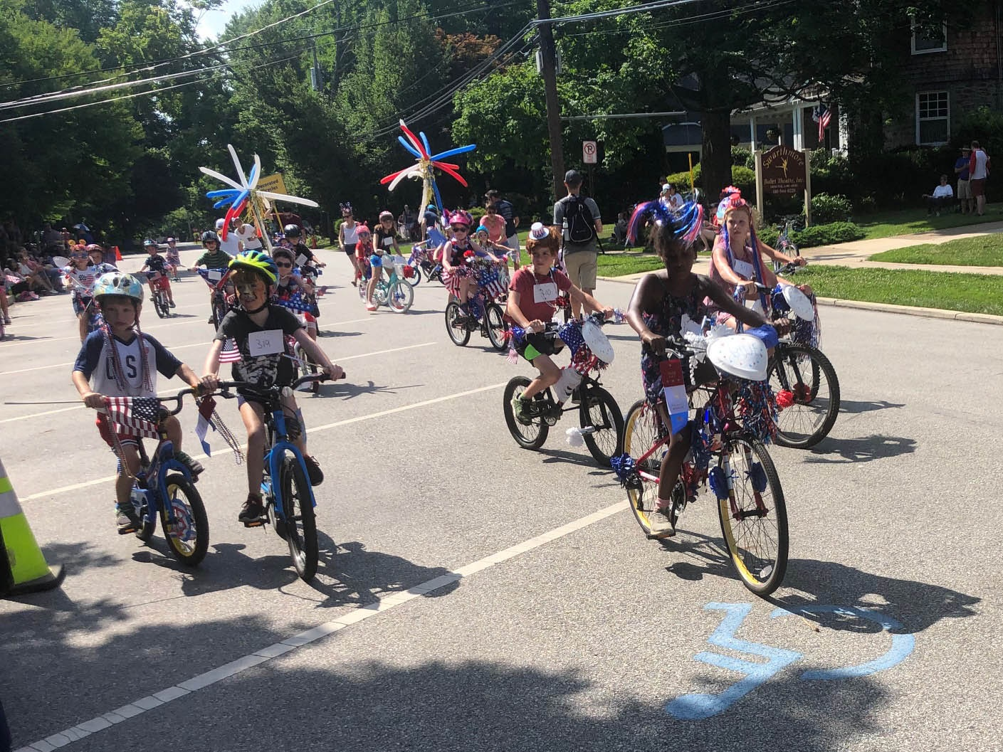 Independence Day bike parade in Swarthmore