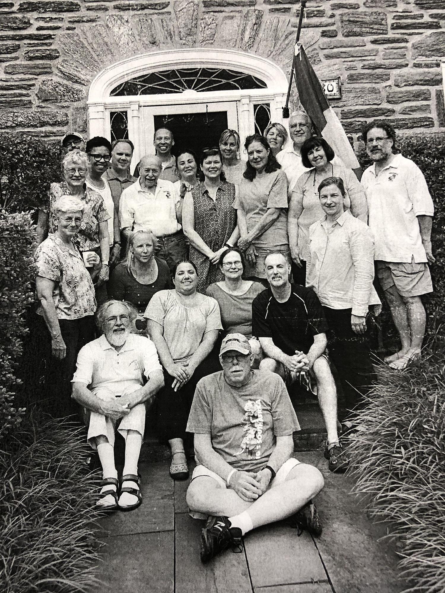 Front row: Mike Letts. Second row (l. to r.): Jim Saxon, Lyn Podolski, Bere Saxon and Brian Deppen. Third row (l. to r.): Judy Politzer, Beth McErlean and Catherine King. Fourth row (l. to r.): Betty Dowling, Joe Torregrossa, Betsy Larsen, Heather Gray, Beth Jones and Howard Garfinkel. Back row (l. to r.): Grady Harrington, Delma Broussard, Pat McErlean, Ray Johnston, Susan Wendt, Pat Donato, Sondra Mervine and Gary King