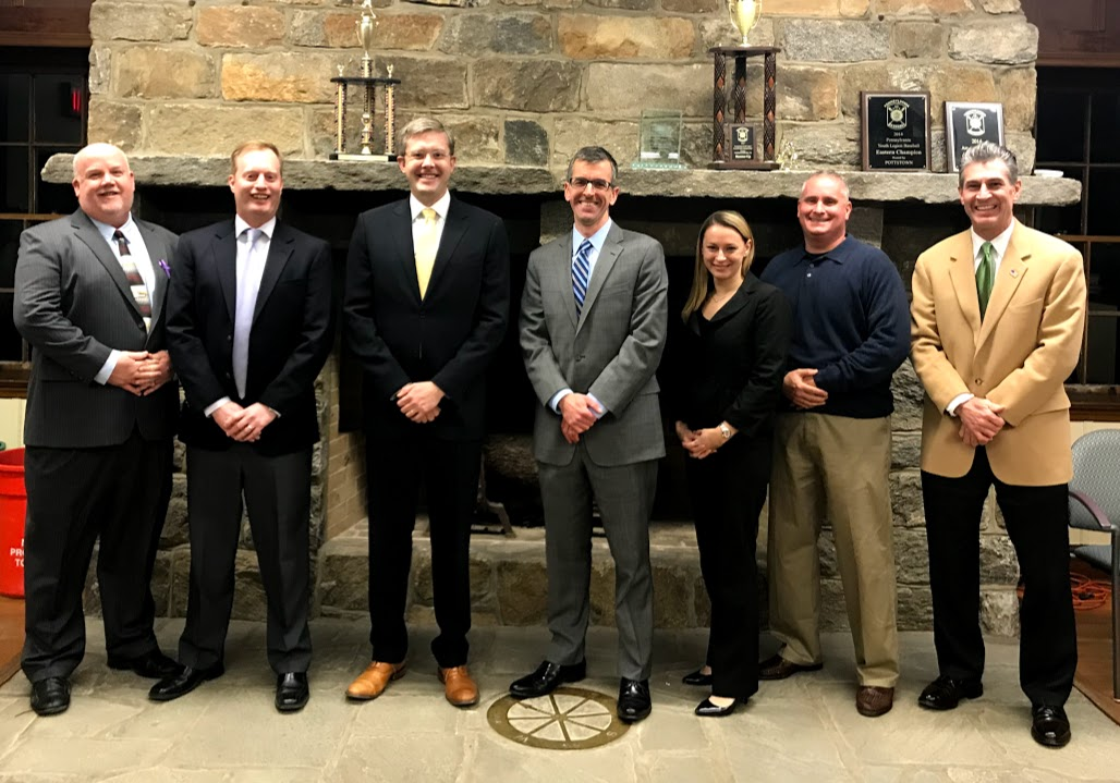 Members of the Board of Commissioners are (l to r): Michael Dougherty, Matthew Garson, Micah Knapp (Vice President), Matthew Sullivan (President), Kaitlin McKenzie-Fiumara, Larry Baker, and Robert O'Connor.  Photo courtesy of Nether Providence Township