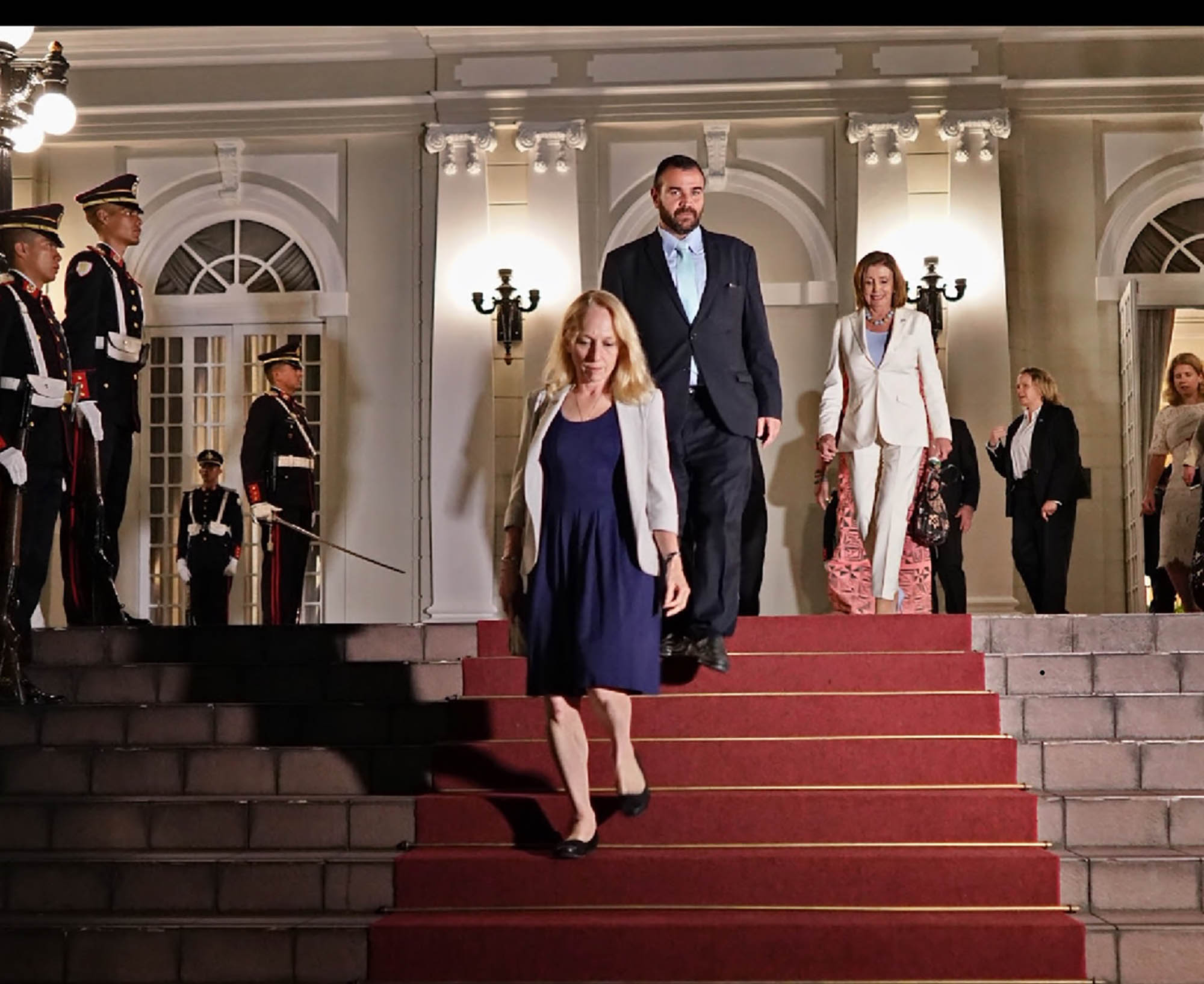 Mary Gay Scanlon and Nancy Pelosi got the red carpet treatment from President Nayib Bukele in El Salvador.
