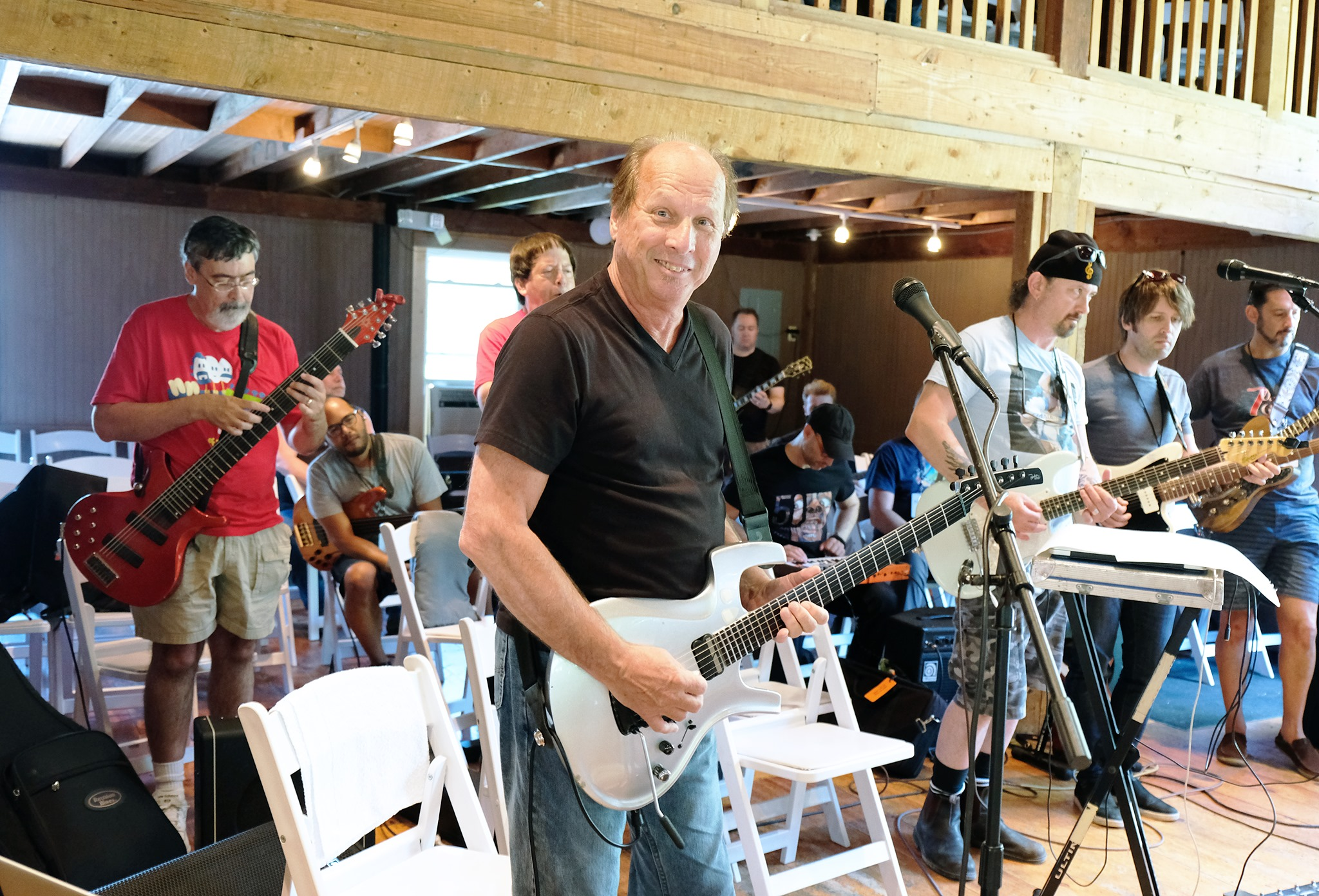 Adrian Belew at Rehearsal