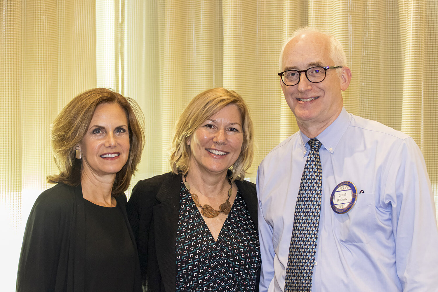 Task Force members Beth Murray, Sharon Mester, and Greg Brown presented the 2030 report to the Rotary Club of Swarthmore at its August 22 meeting.  Photo by Gudmund Iversen.