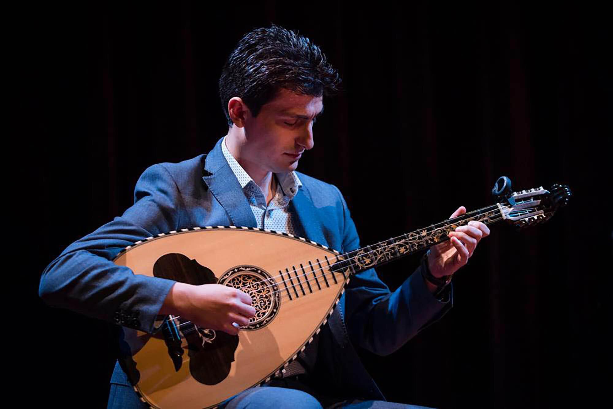 Vasilis Kostas of The Pharos Ensemble.