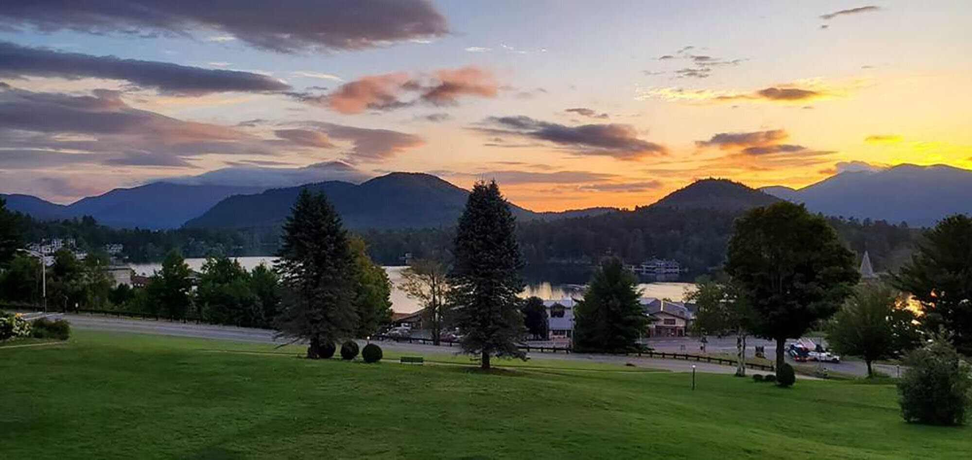 Sunrise at Lake Placid.