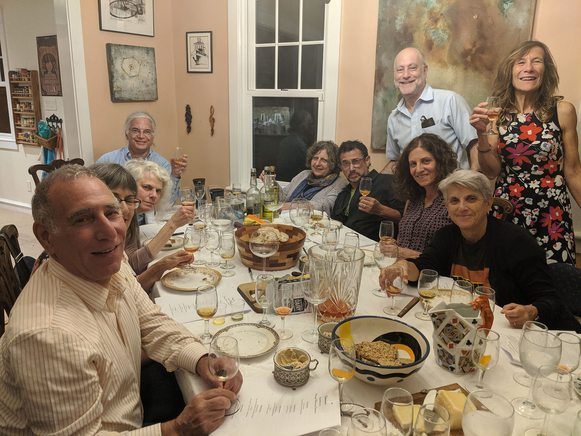The Ethanology group toasted its fifth anniversary in late September.  Photo by Karen Vesely.