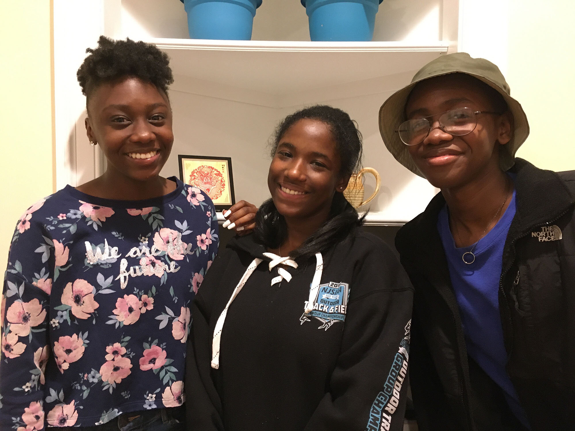 A Better Chance – Strath Haven scholars (left to right) Amayah Wade, Teghan Sydnor, and Assane Wade moved into the ABC house on Harvard Avenue this fall to continue their education at Strath Haven High School.  Photo is by ABC scholar Elia Brooks-Sims.