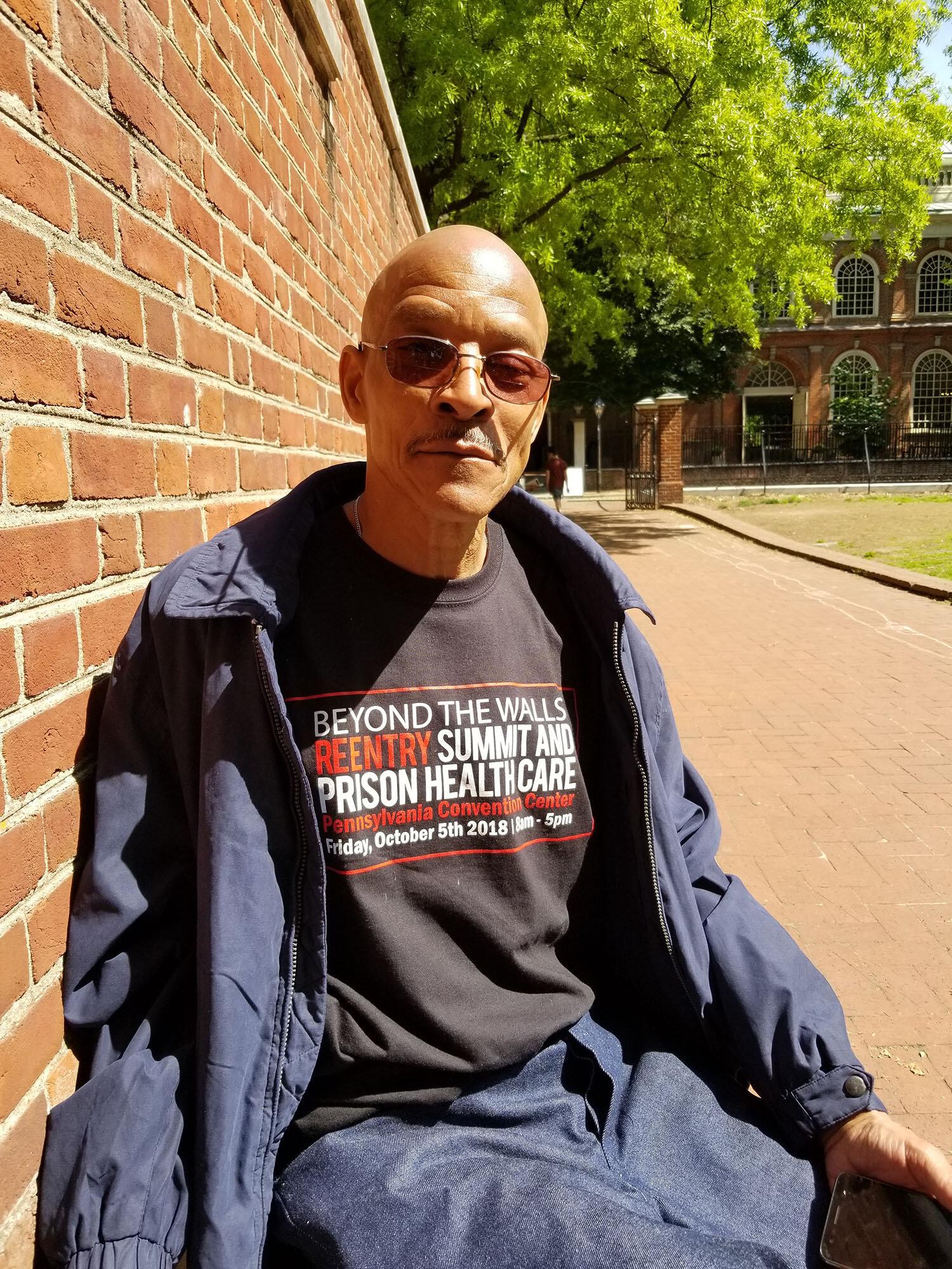 Kevin Evans, free in Philadelphia.  Photo by Stefanie McArdle Taylor.