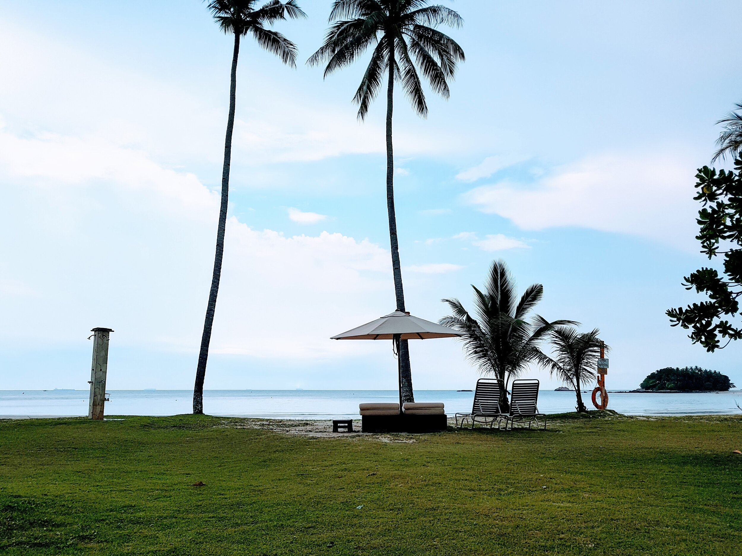 Bintan Resort Beach, Indonesia. Oh, how pleasant it was when there's nobody at the beach!