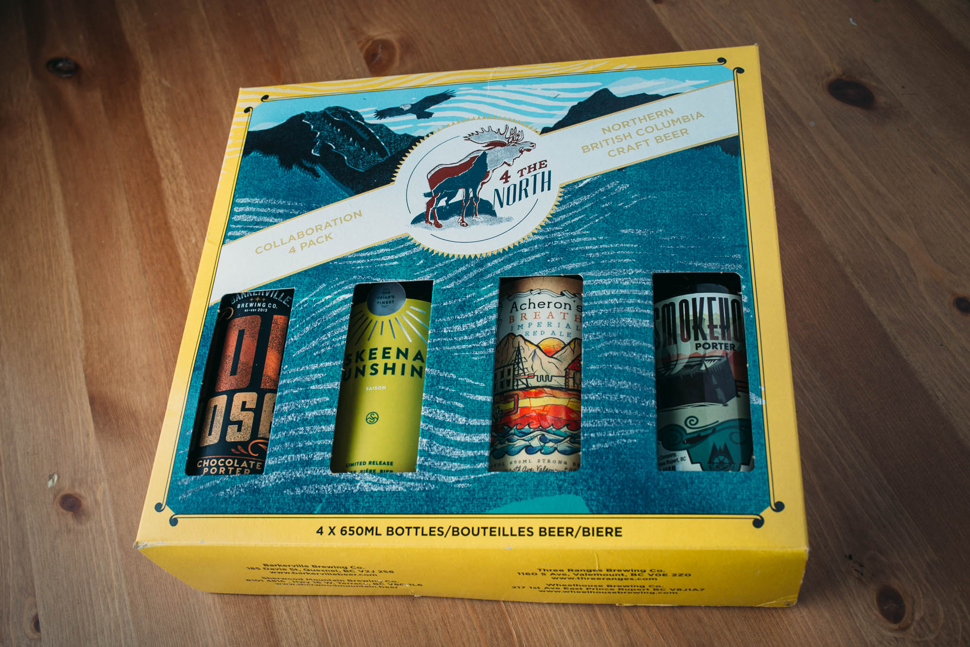 Northern B.C. Barkerville Brewing Quesnel Wheelhouse Brewing Prince Rupert Sherwood Mountain Brewhouse Terrace Three Ranges Brewing Valemont Craft Beer