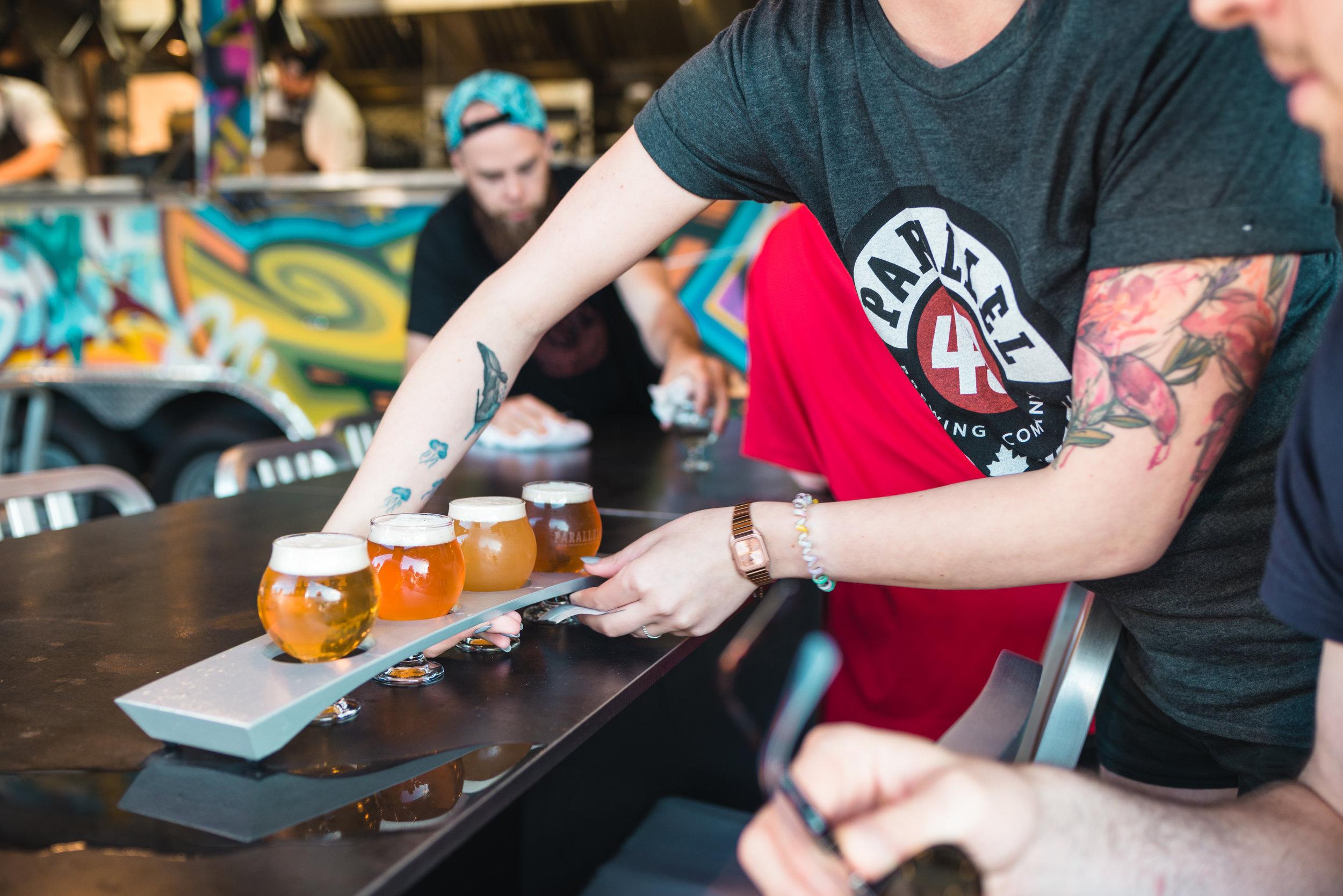 parallel 49 brewing yeastvan east vancouver craft beer flights vanpours