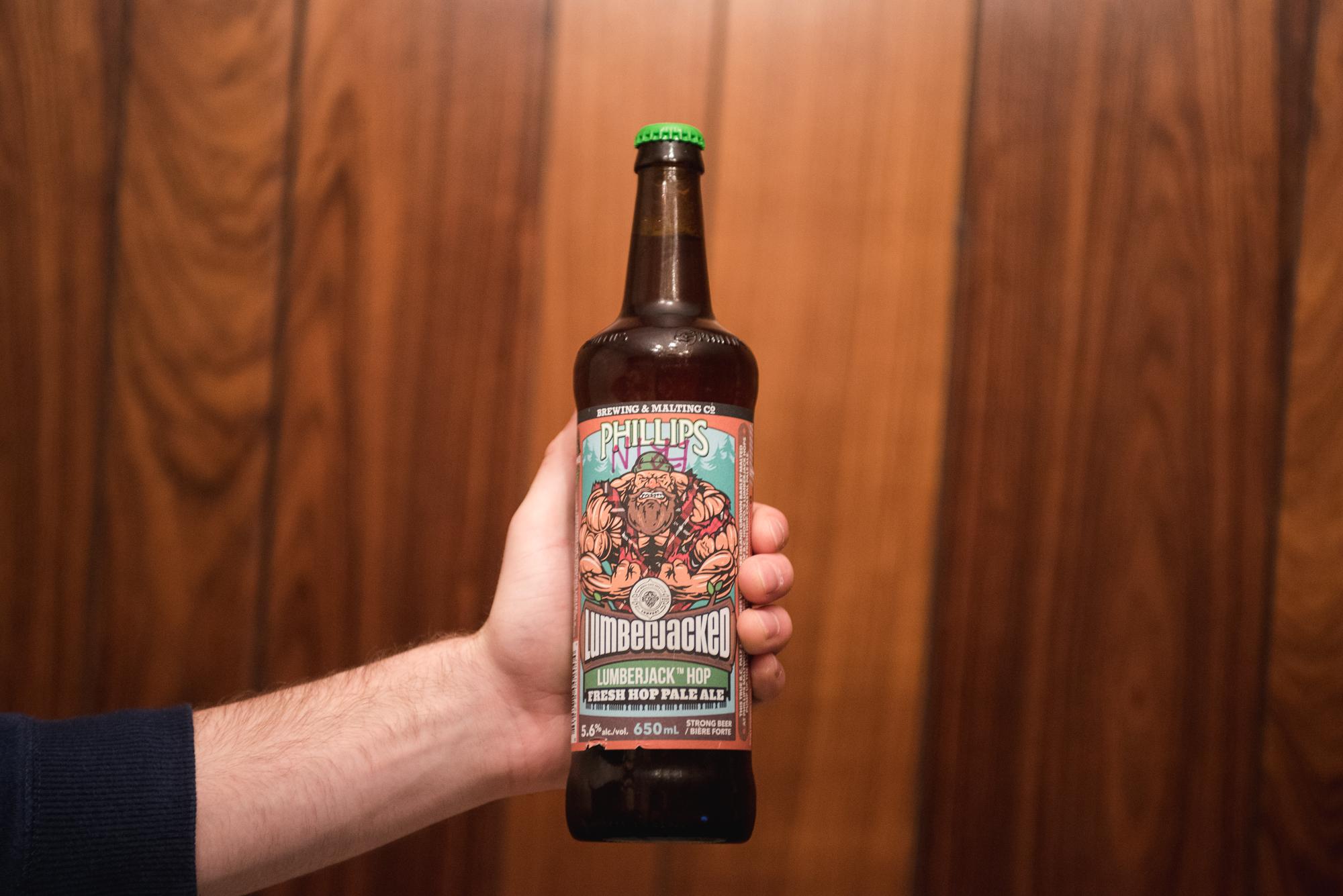 Phillips Brewing & Malting Co Lumberjack Hop Fresh Hop Pale Ale victoria craft beer vanpours