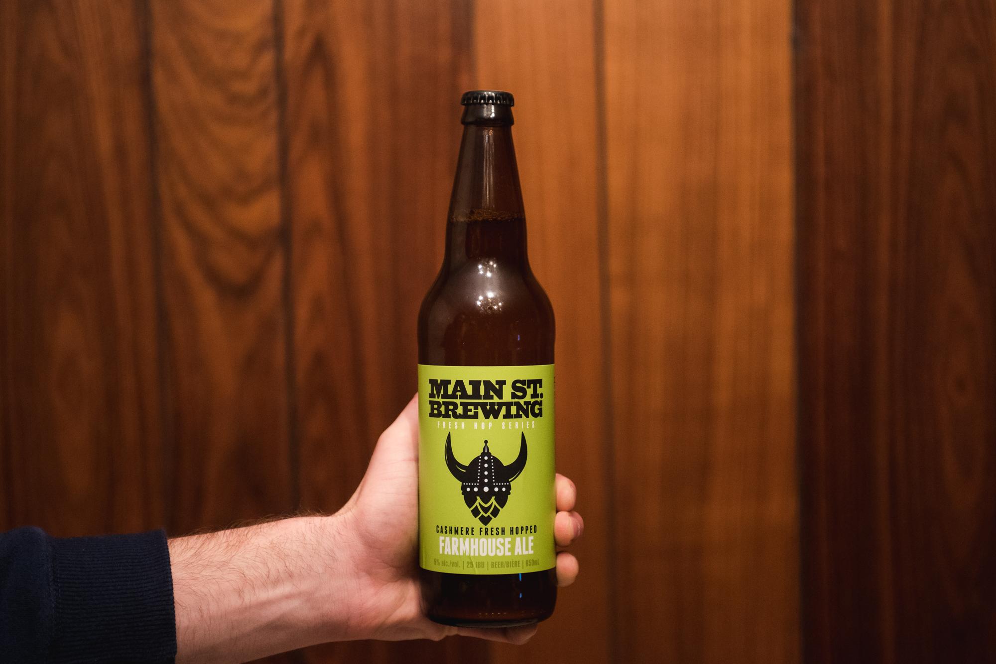 Main Street Brewing Farmhouse Ale Fresh Hop craft beer vancouver vanpours